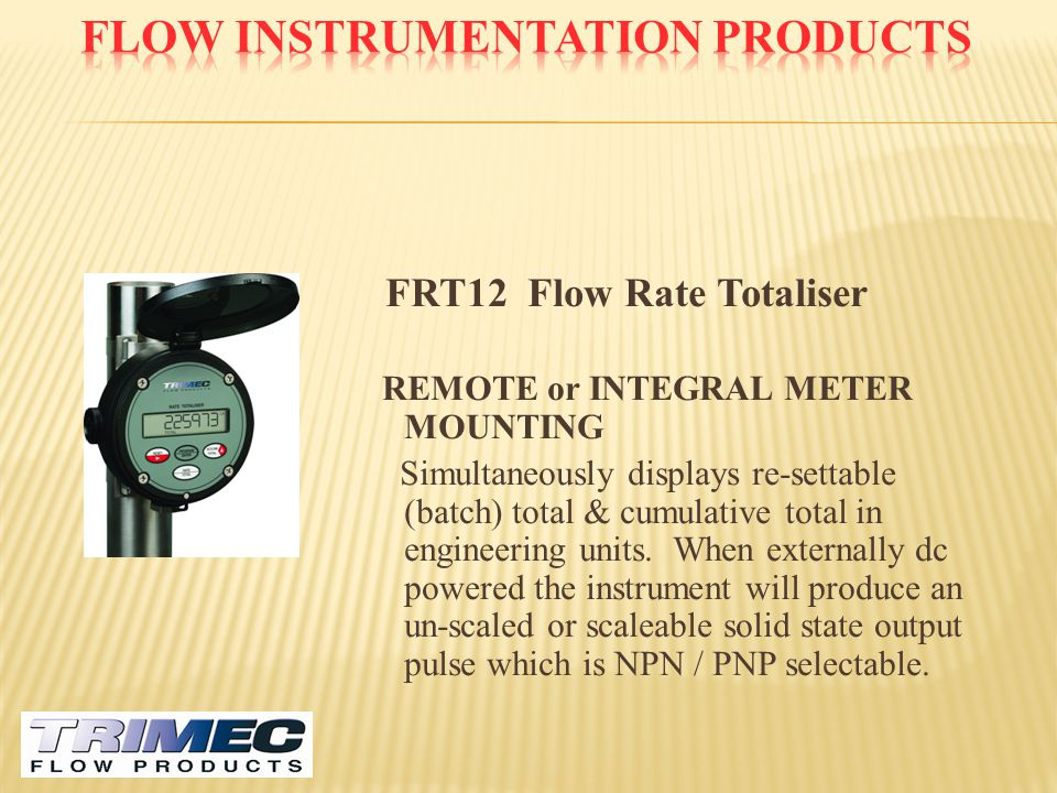 Flow Instrumentation Products