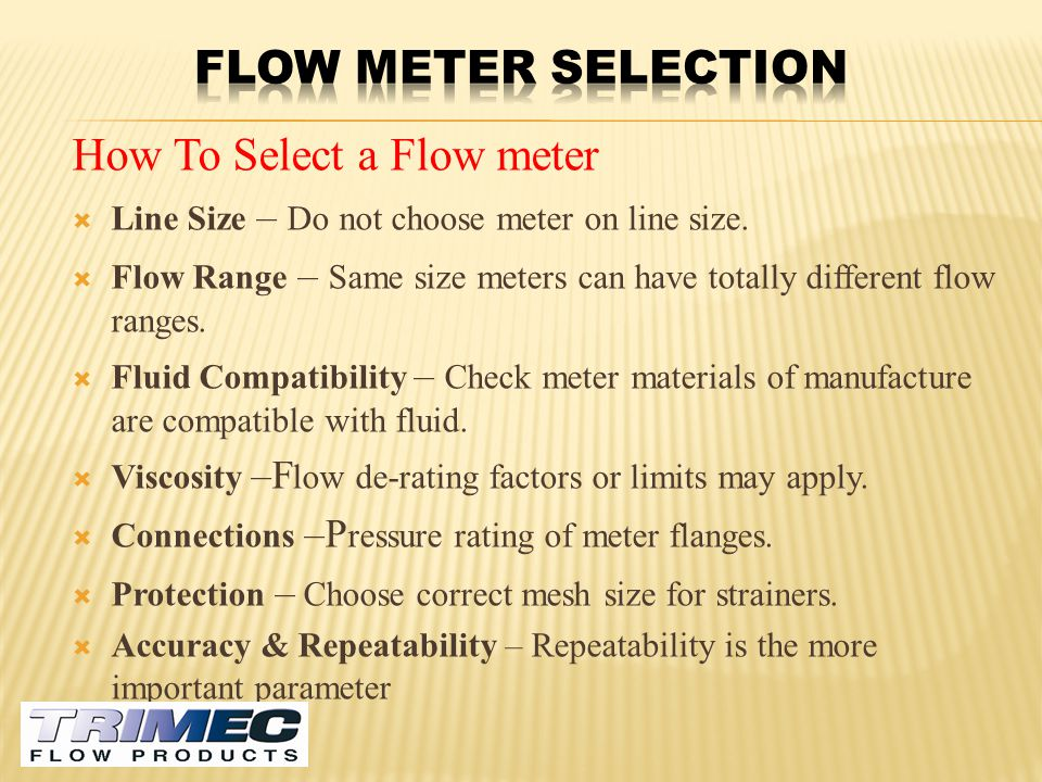 How To Select a Flow meter