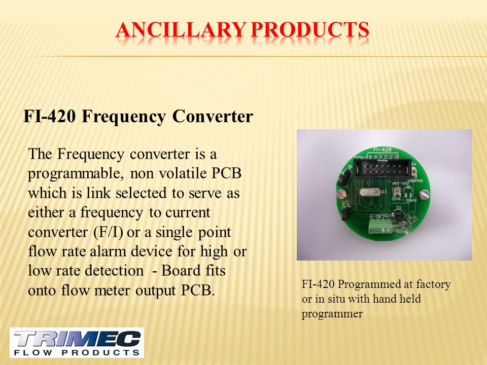 Ancillary Products FI-420 Frequency Converter