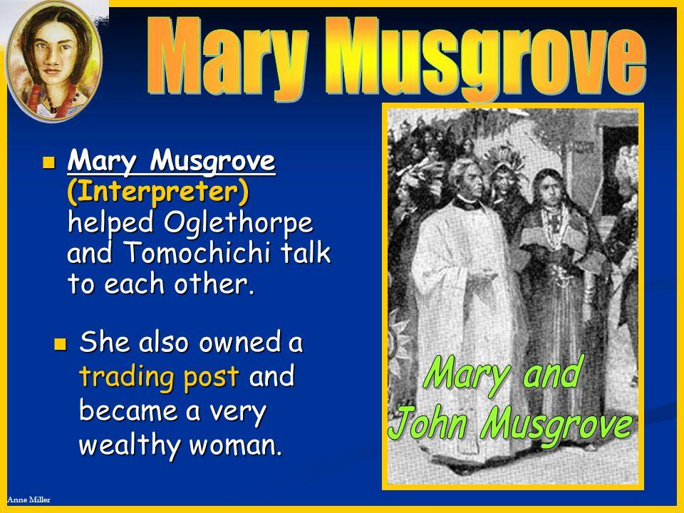 Mary Musgrove Mary and John Musgrove