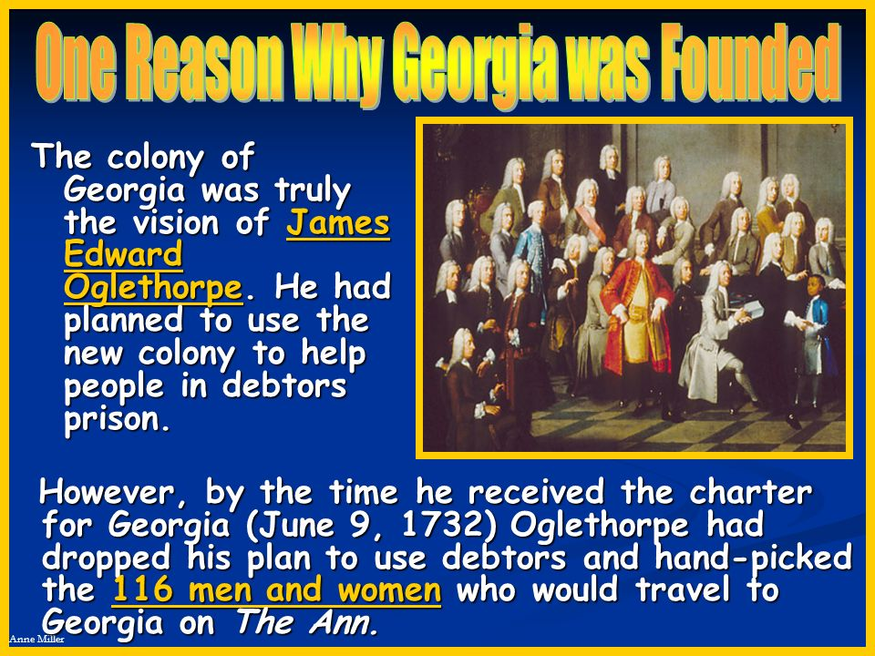 One Reason Why Georgia was Founded