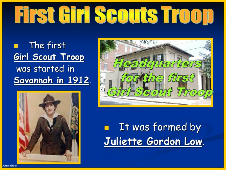 First Girl Scouts Troop