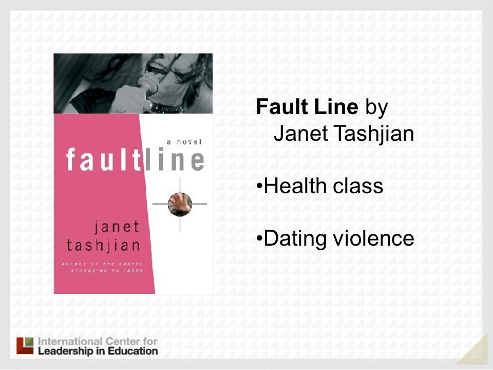 Fault Line by Janet Tashjian Health class Dating violence
