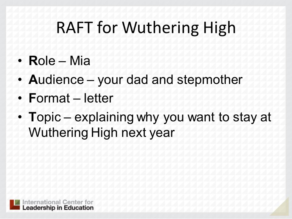 RAFT for Wuthering High