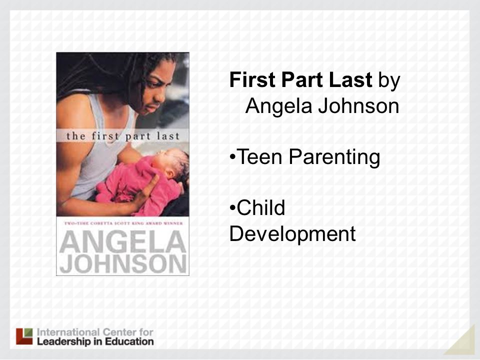 First Part Last by Angela Johnson Teen Parenting Child Development