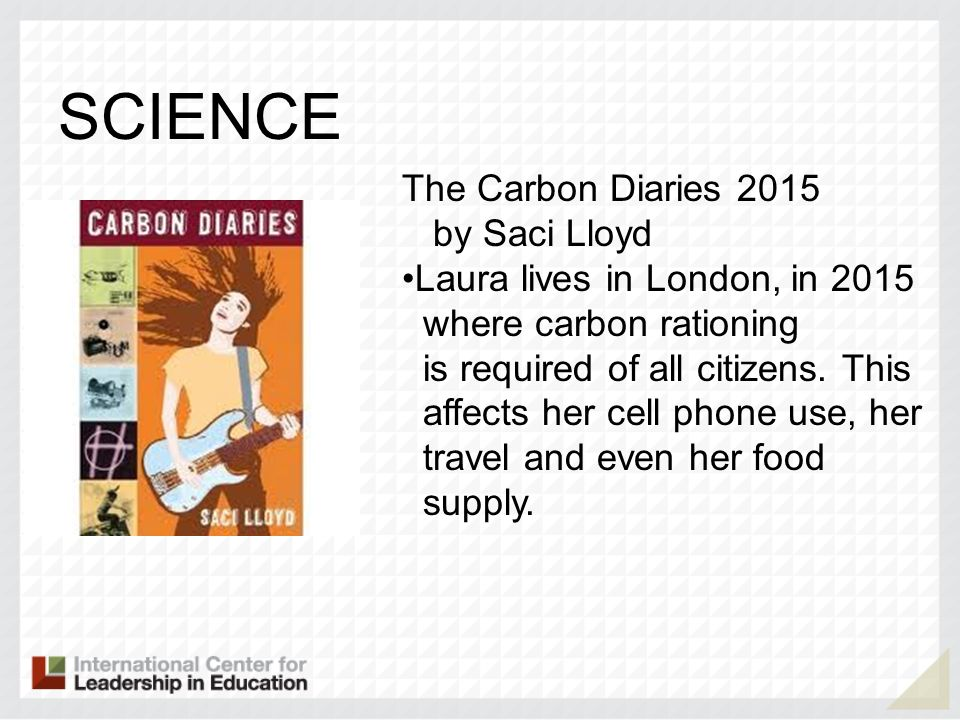 SCIENCE The Carbon Diaries 2015 by Saci Lloyd