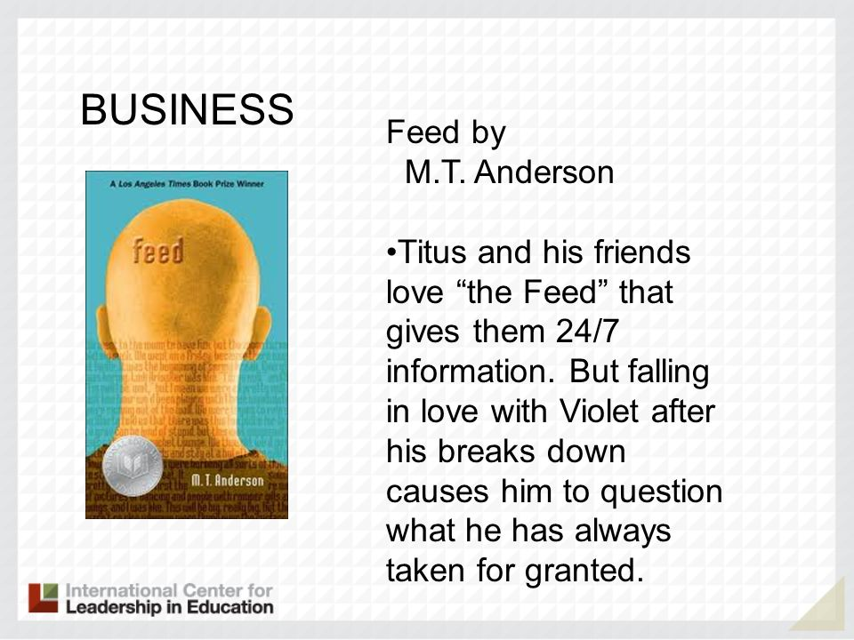 BUSINESS Feed by M.T. Anderson