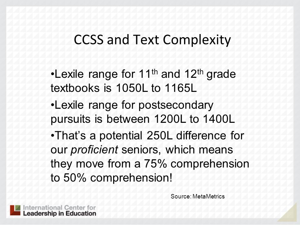 CCSS and Text Complexity
