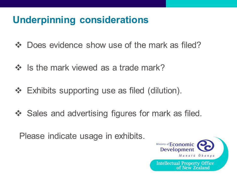 Underpinning considerations