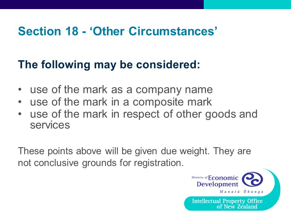 Section 18 - 'Other Circumstances'