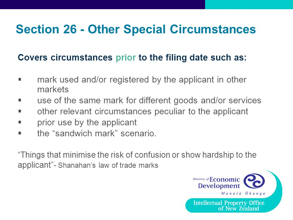 Section 26 - Other Special Circumstances