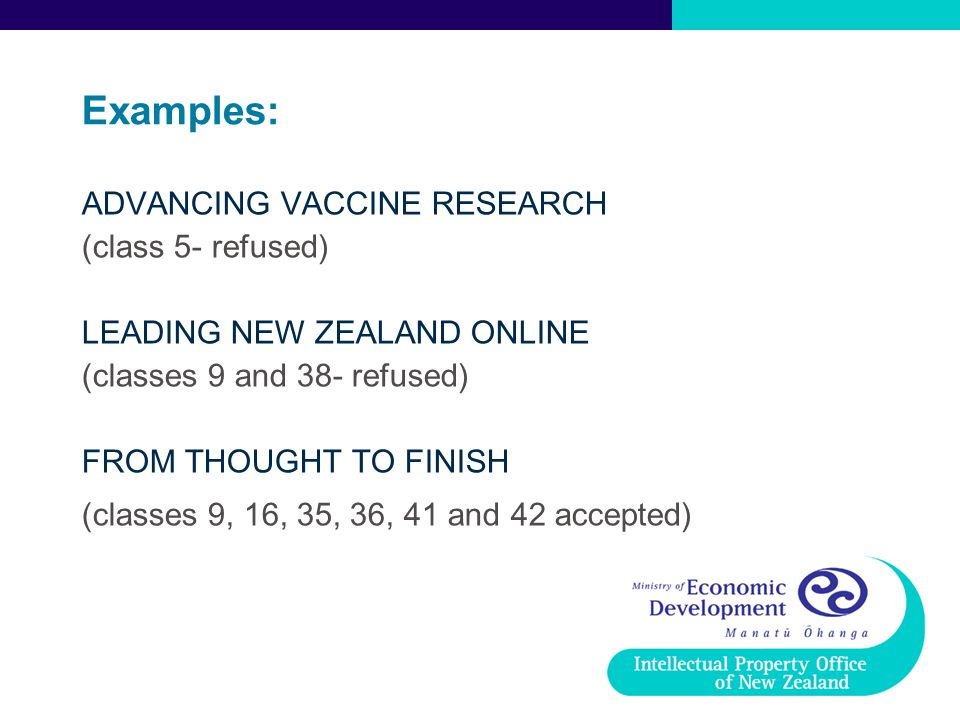 Examples: ADVANCING VACCINE RESEARCH (class 5- refused)