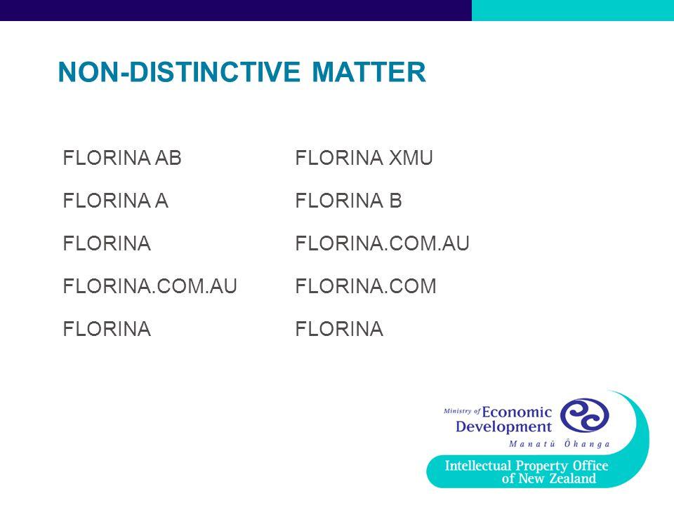 NON-DISTINCTIVE MATTER