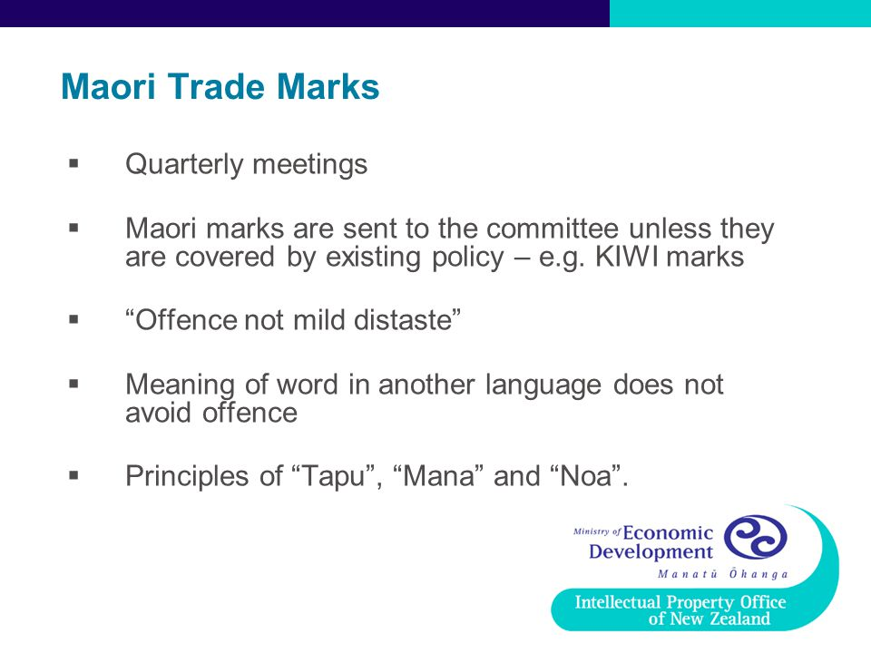 Maori Trade Marks Quarterly meetings