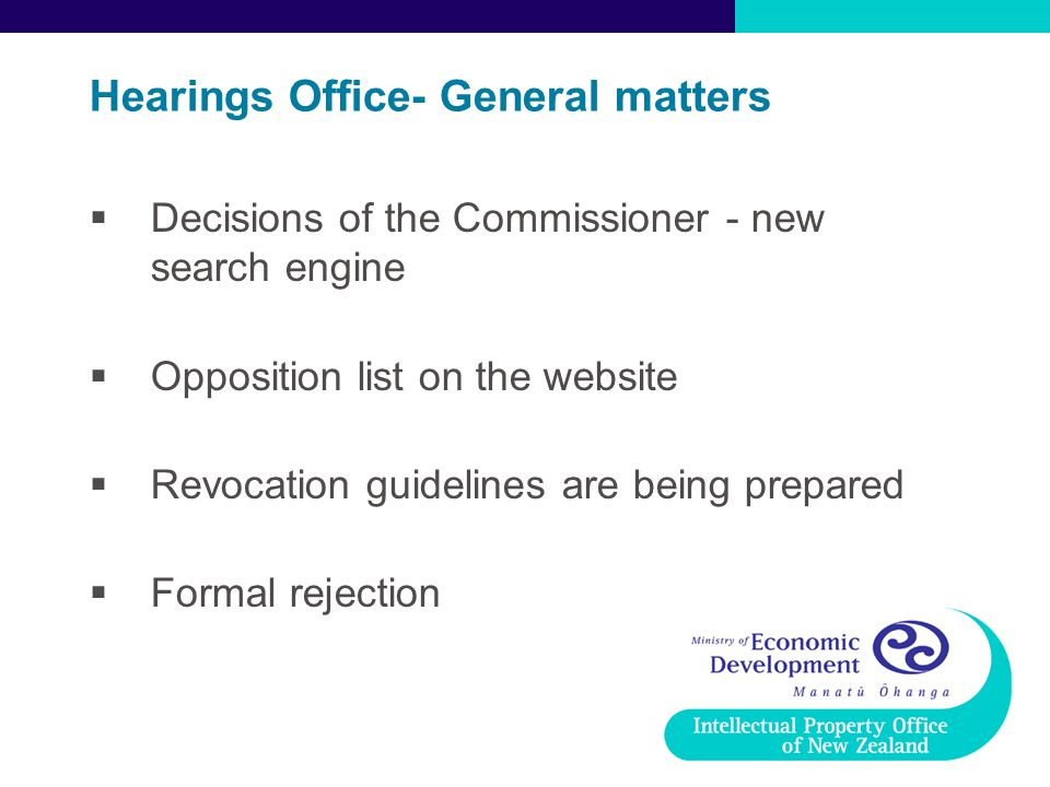 Hearings Office- General matters