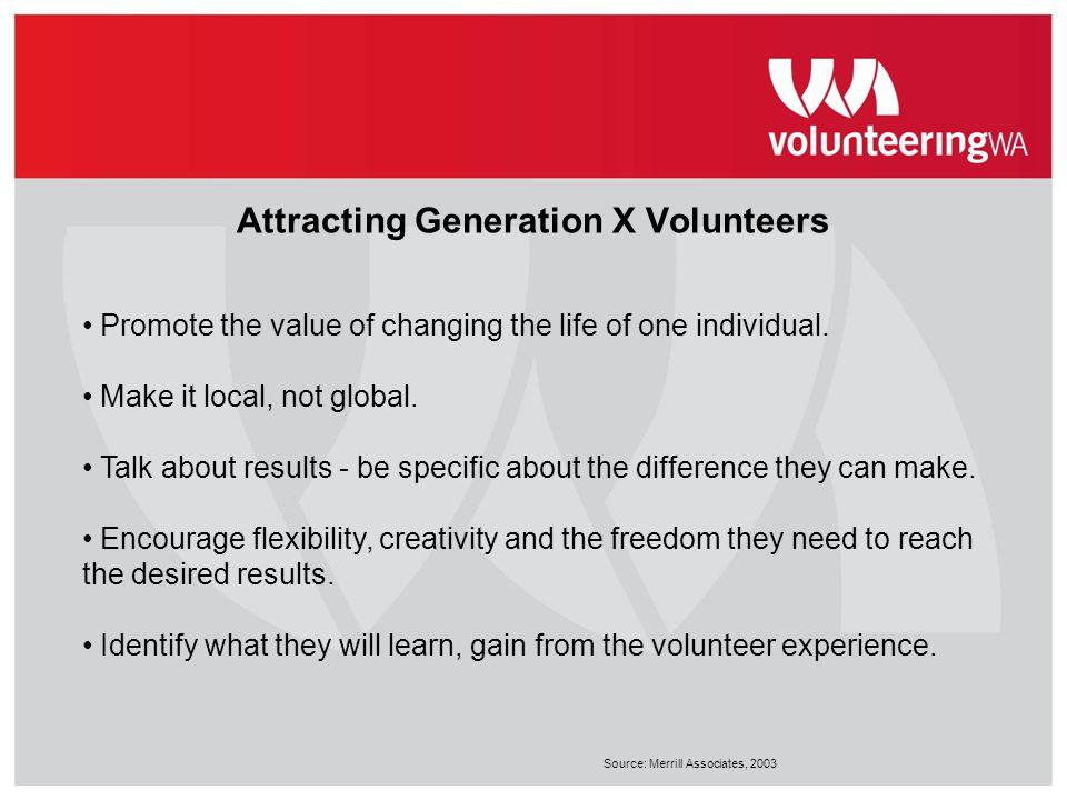 Attracting Generation X Volunteers