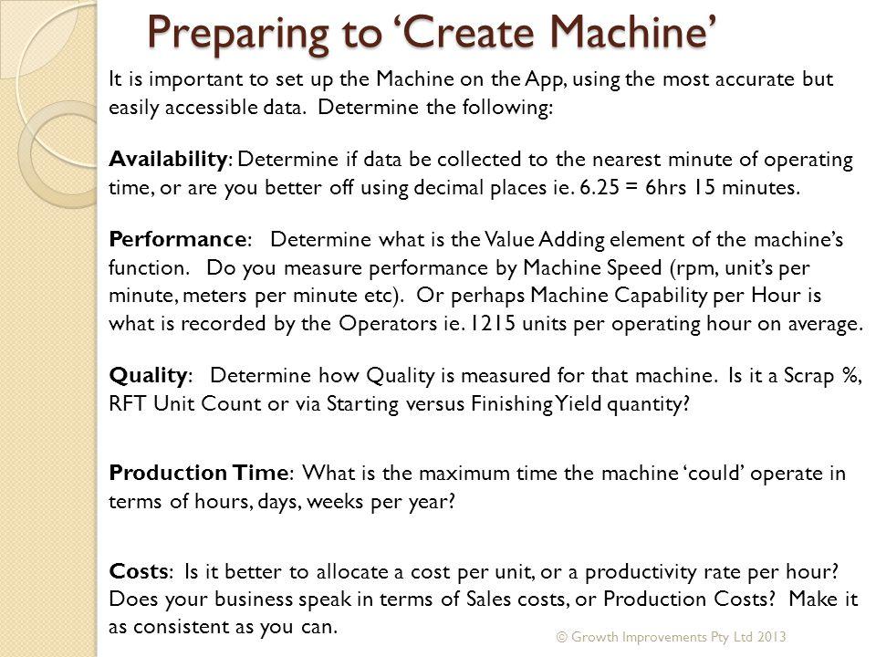 Preparing to 'Create Machine'