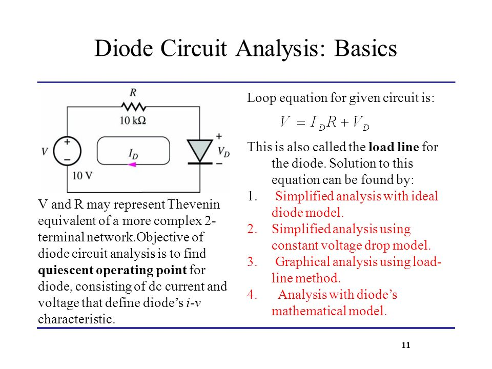 Diode Circuit Analysis: Basics