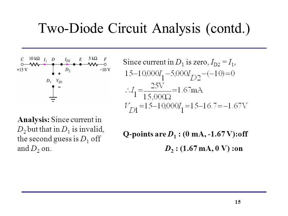 Two-Diode Circuit Analysis (contd.)