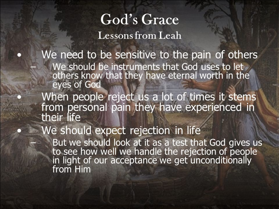God's Grace Lessons from Leah