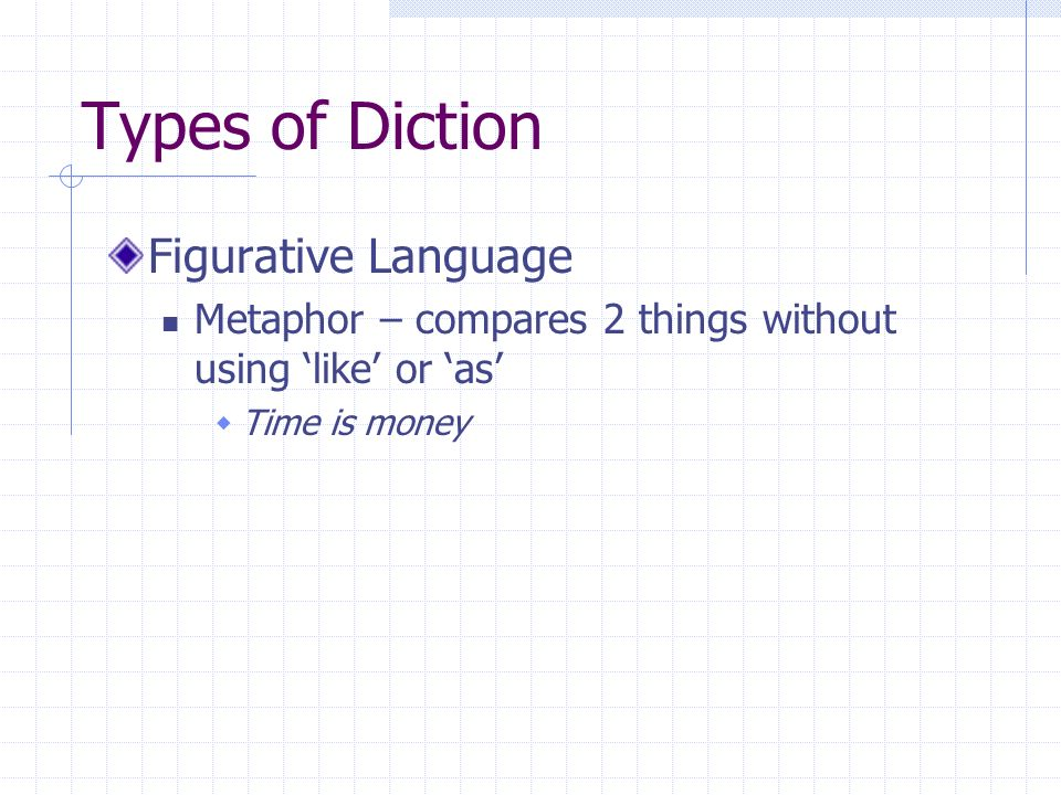 Types of Diction Figurative Language