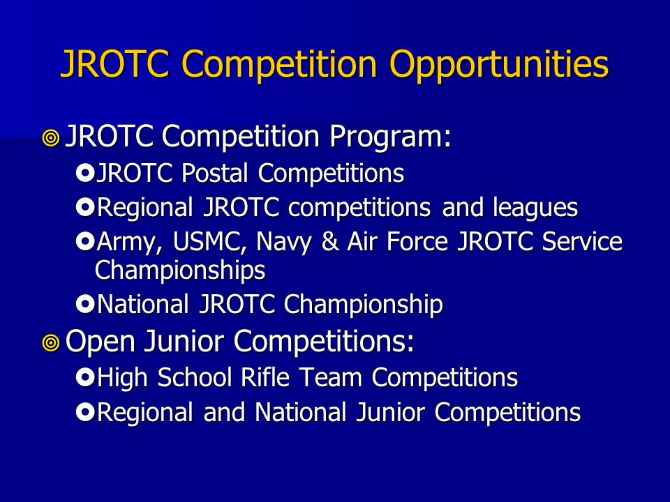 JROTC Competition Opportunities