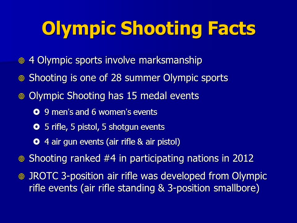 Olympic Shooting Facts