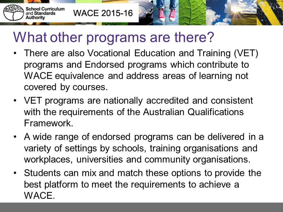 What other programs are there