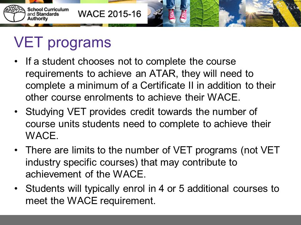 VET programs
