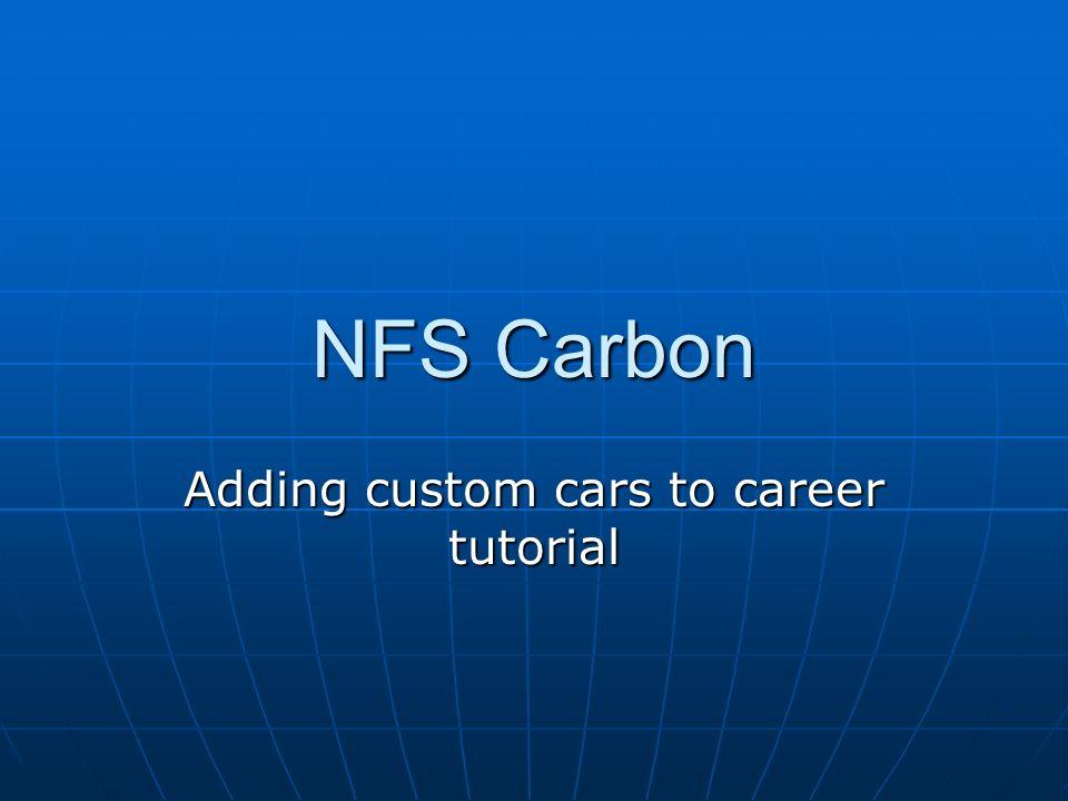 Adding custom cars to career tutorial