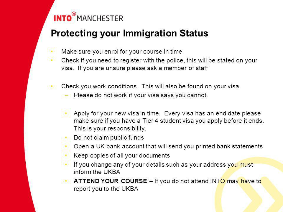 Protecting your Immigration Status