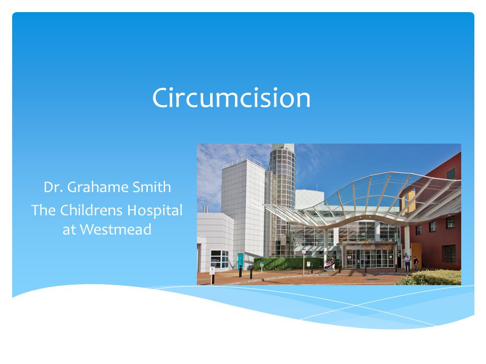 Dr. Grahame Smith The Childrens Hospital at Westmead