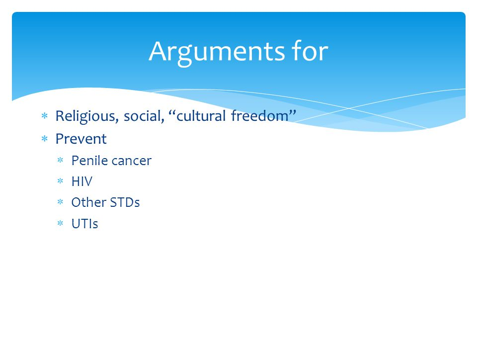Arguments for Religious, social, cultural freedom Prevent