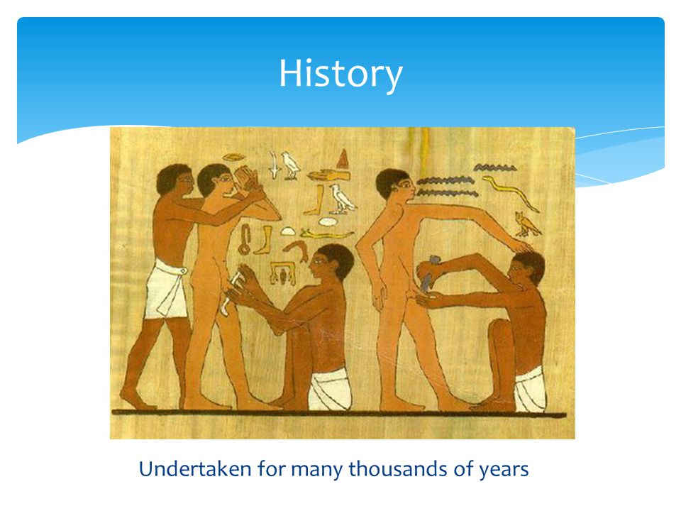 History Undertaken for many thousands of years