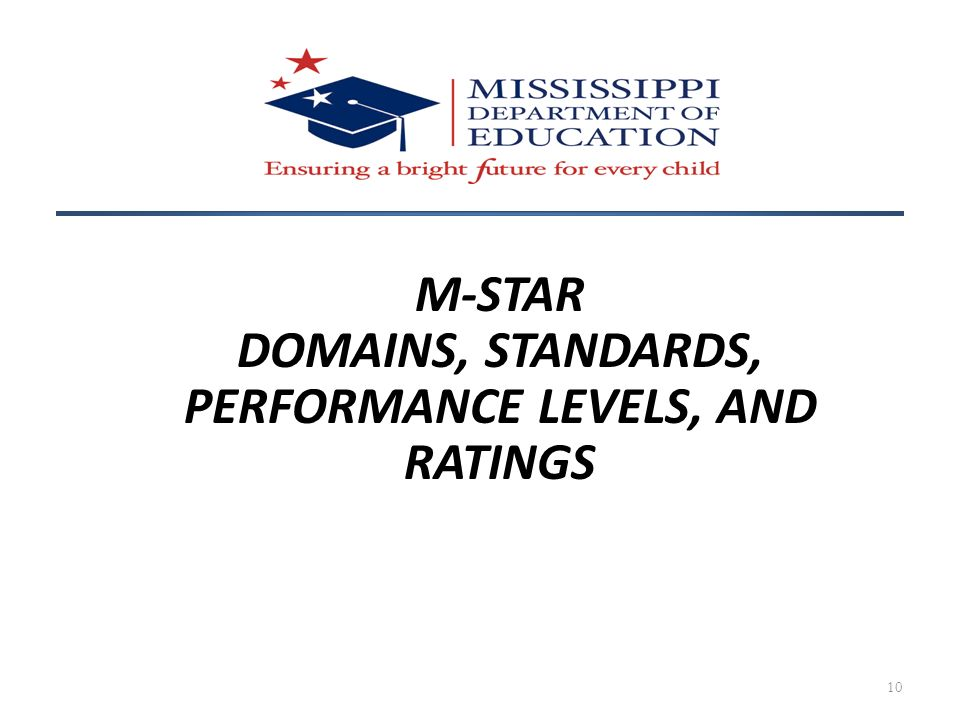 DOMAINS, STANDARDS, PERFORMANCE LEVELS, AND RATINGS