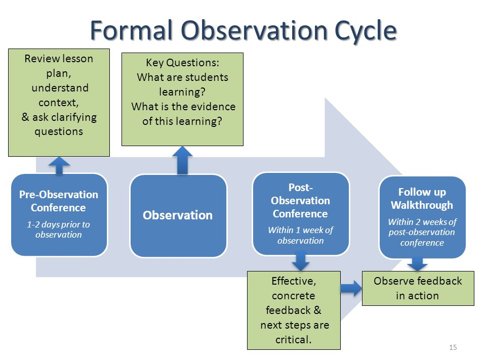 Formal Observation Cycle