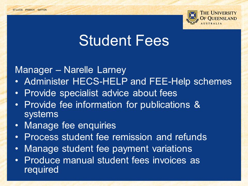 Student Fees Manager – Narelle Larney