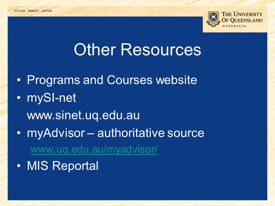 Other Resources Programs and Courses website mySI-net