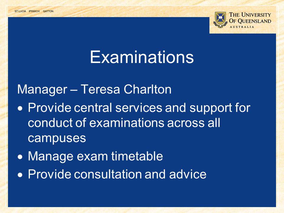 Examinations Manager – Teresa Charlton