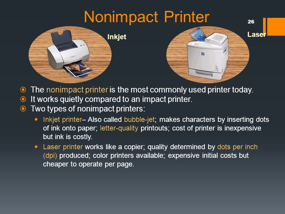 color laser printer vs inkjet cost per page - introduction to computer ppt download