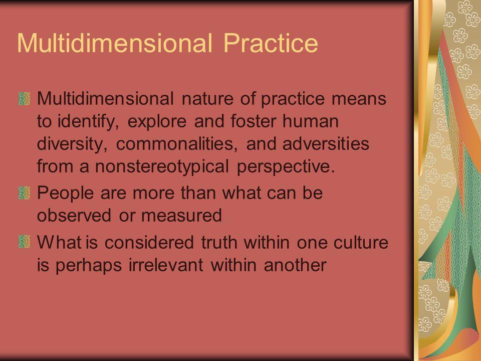 Multidimensional Practice