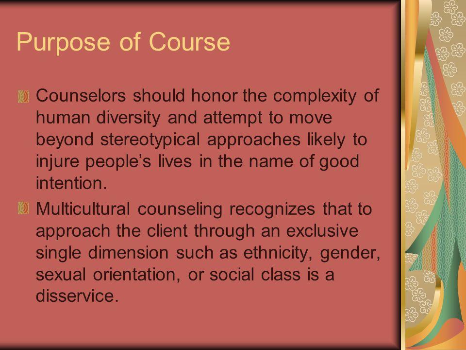 Purpose of Course