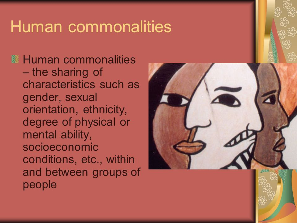 Human commonalities
