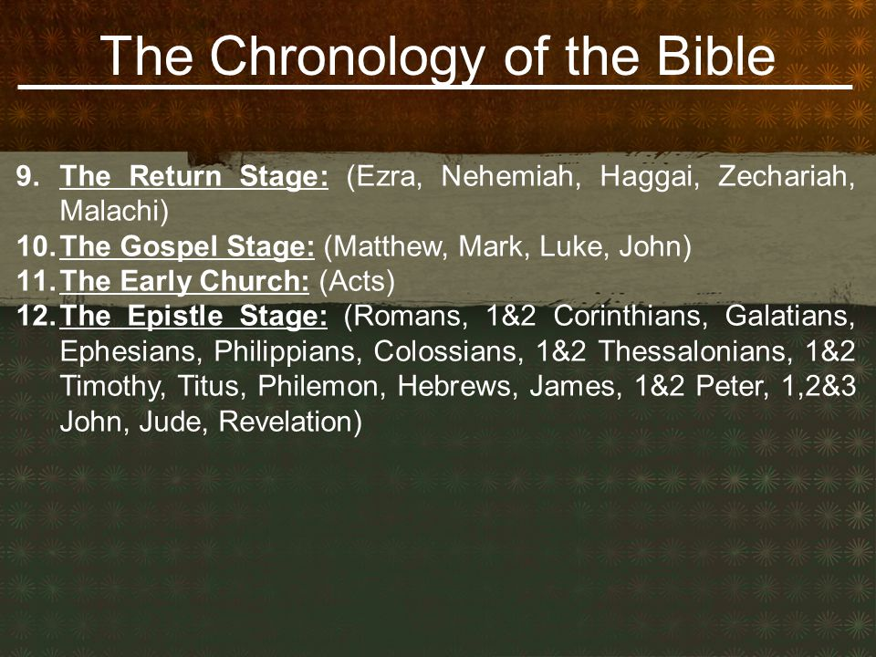 The Chronology of the Bible