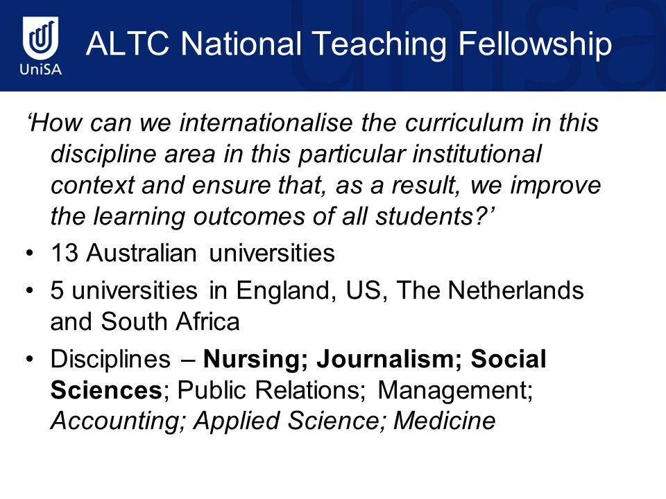 ALTC National Teaching Fellowship