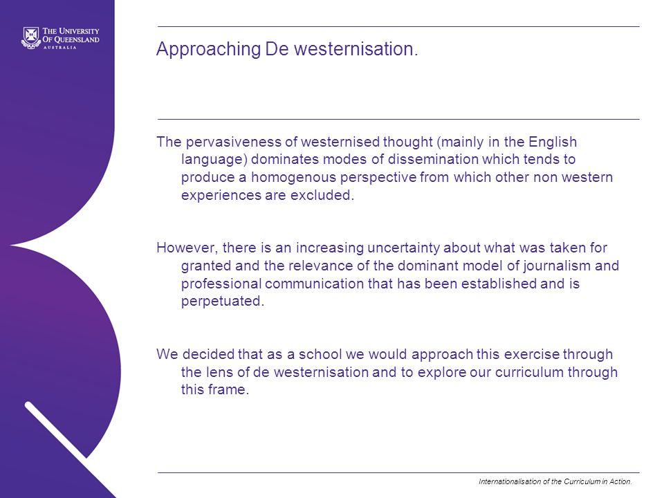 Approaching De westernisation.