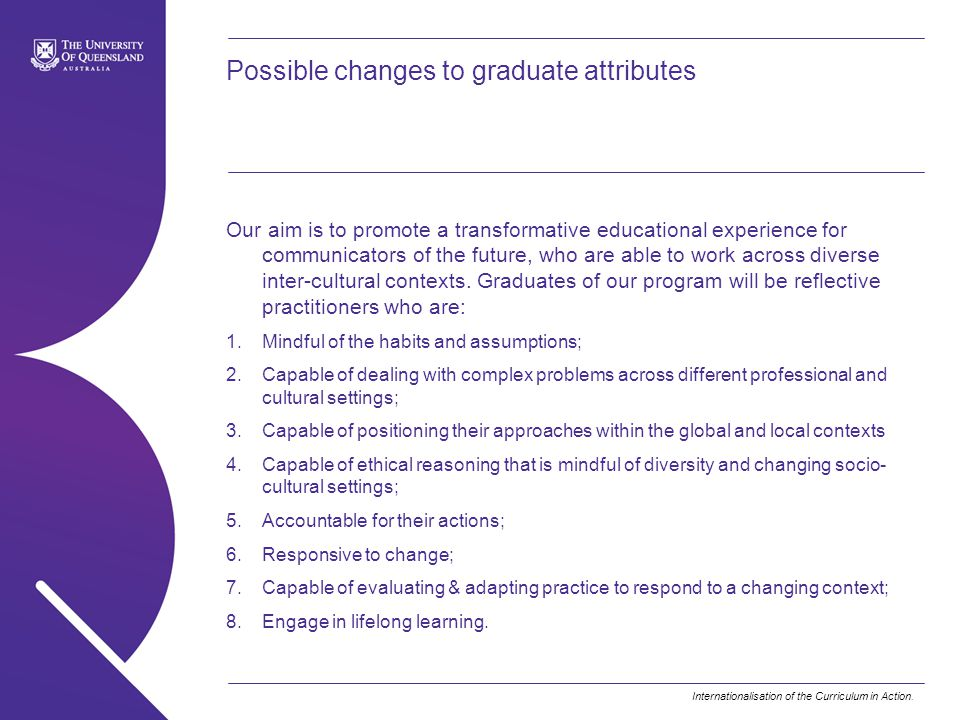Possible changes to graduate attributes