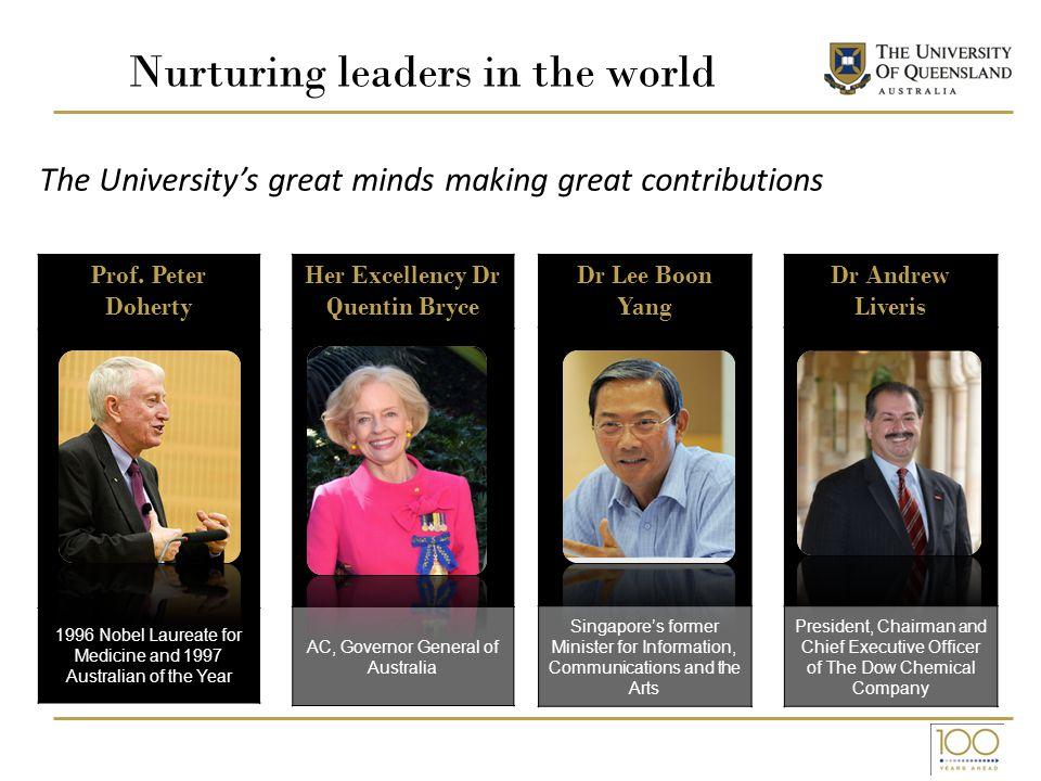 Nurturing leaders in the world