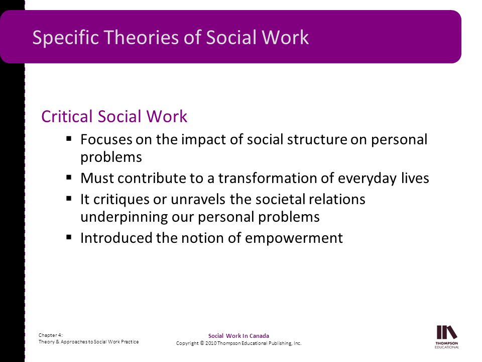 Specific Theories of Social Work