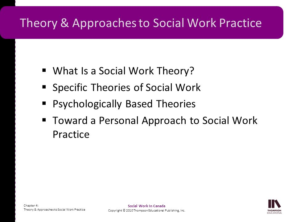 Theory & Approaches to Social Work Practice